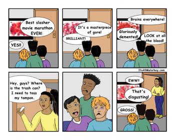 Bloody Irony by Brandi Malarkey, Artist. ItsAllMalarkey.com