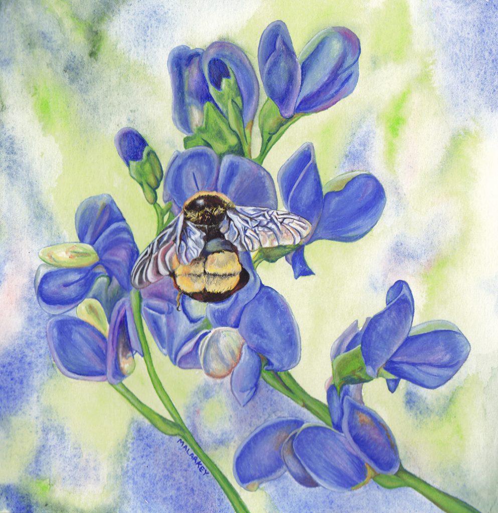 Summoning Spring. Gouache on paper. 14x18. Brandi Malarkey, ItsAllMalarkey.com