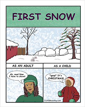 First Snow. Brandi Malarkey, artist. ItsAllMalarkey.com