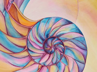 Resonate. Gouache on paper. 16×16 Brandi Malarkey, Artist. ItsAllMalarkey.com