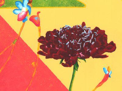 Summer Afternoon. Acrylic. 12x12. Brandi Malarkey, artist. ItsAllMalarkey.com