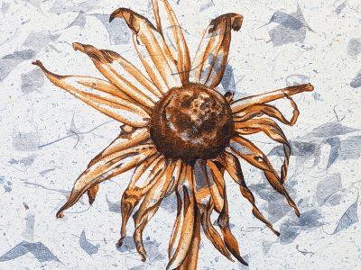 """Death"" 10.75×10.75 Gouache Brandi Malarkey, artist"