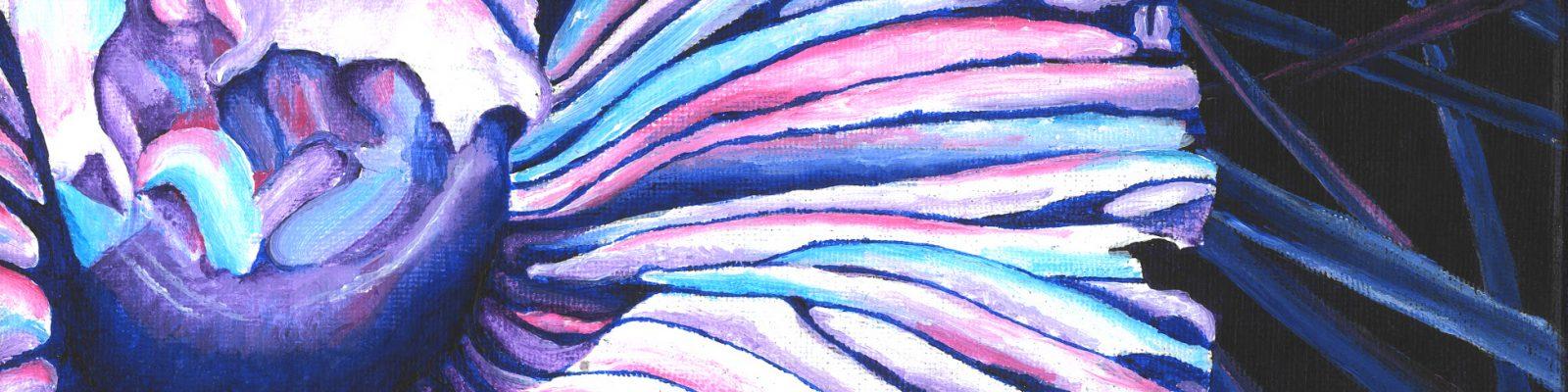 "Mushroom. Acrylic. 10""x10"" Brandi Malarkey, artist."